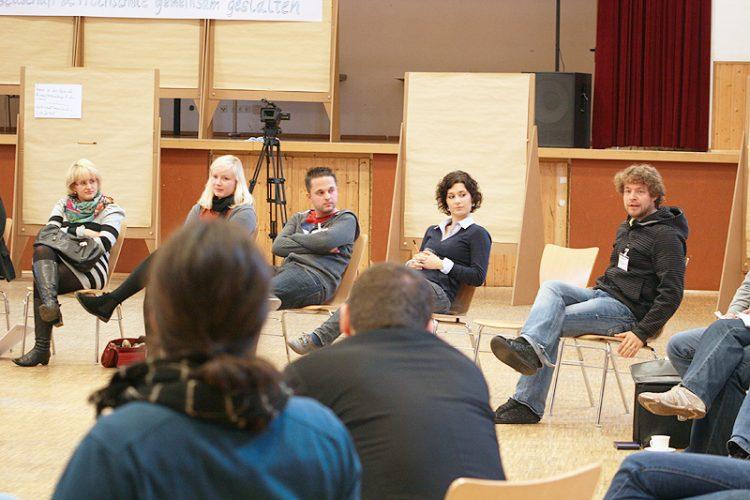 Feedbackrunde beim Open Space der Netzwerktagung in Augsburg